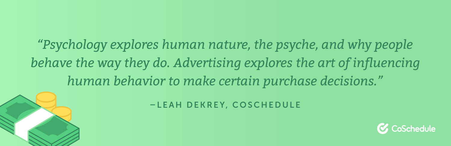 Advertising vs Psychology quote