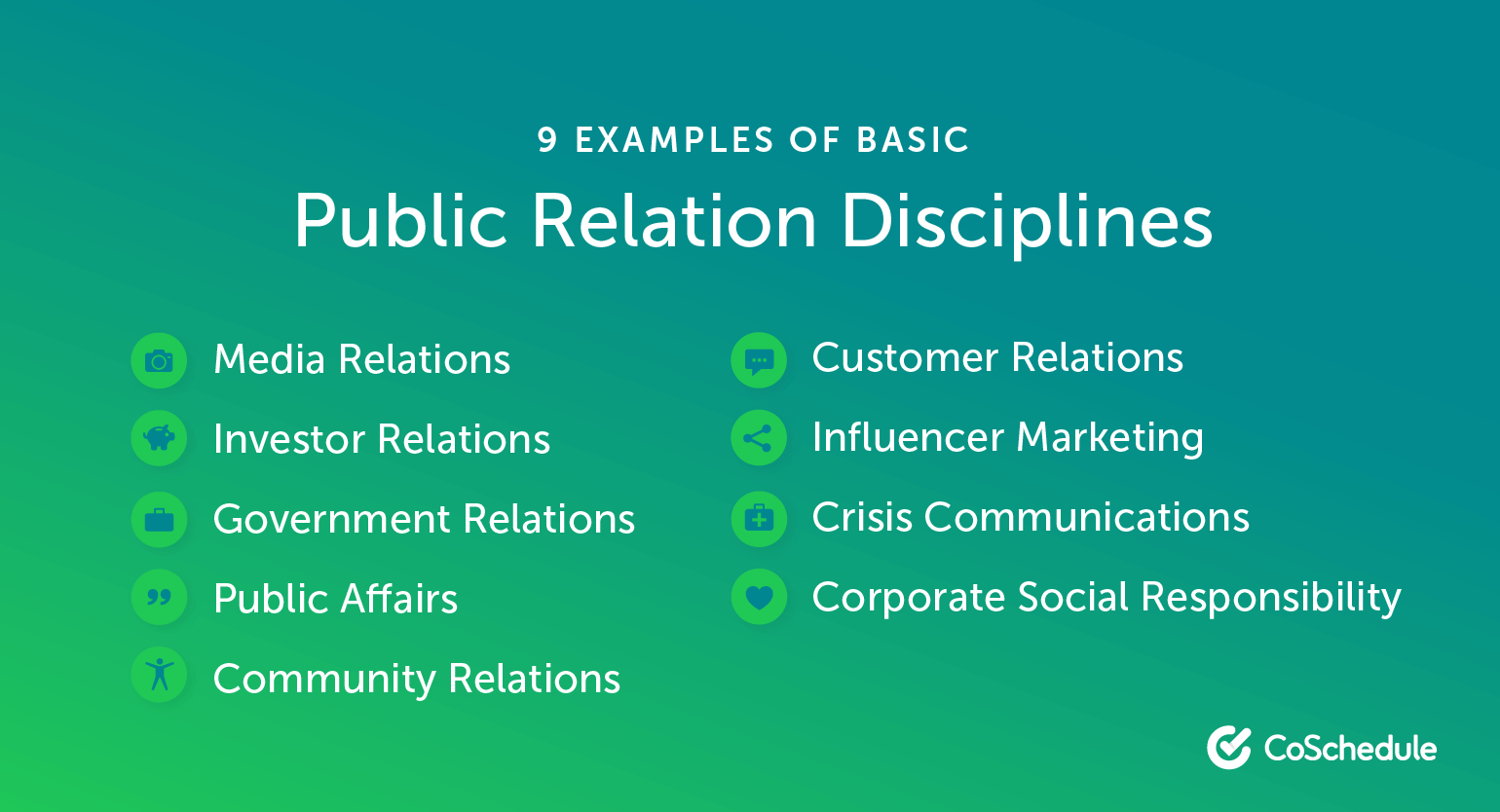 9 Examples of Basic Public Relations Disciplines