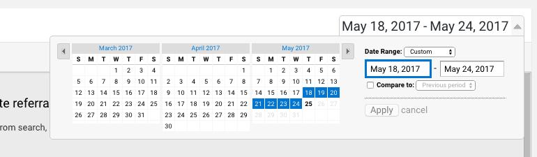 Last month date range