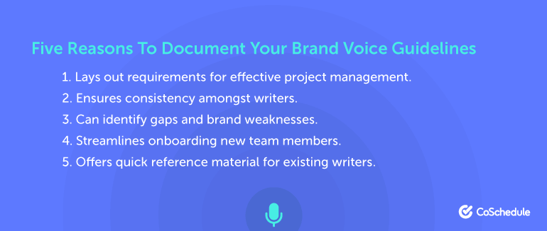 Five Reasons to Document Your Brand Voice Guidelines