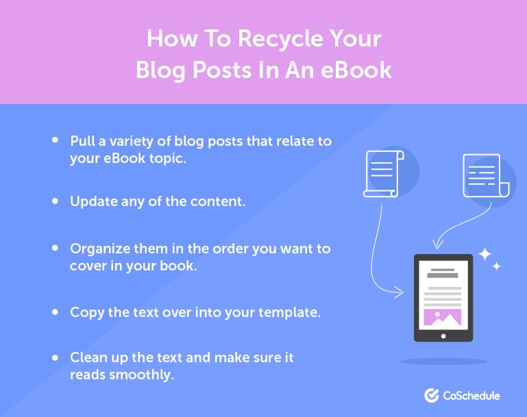 How to Recycle Your Blog Posts in an eBook