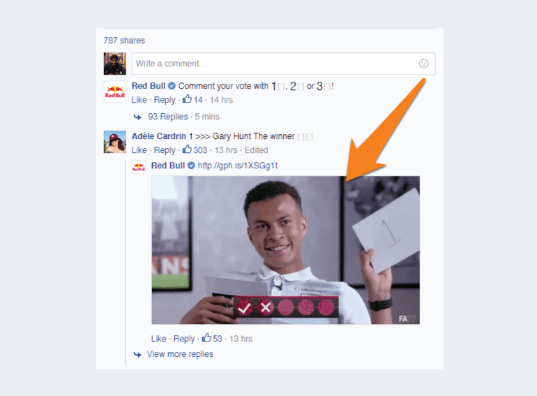 GIF post from Red Bull on Facebook