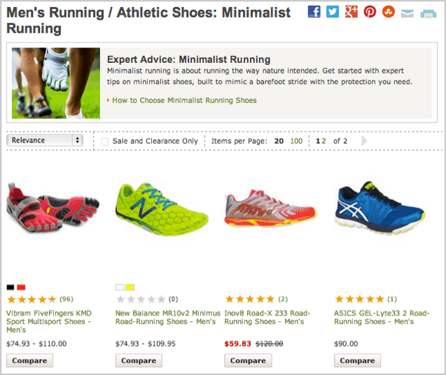 REI Examples of compelling content