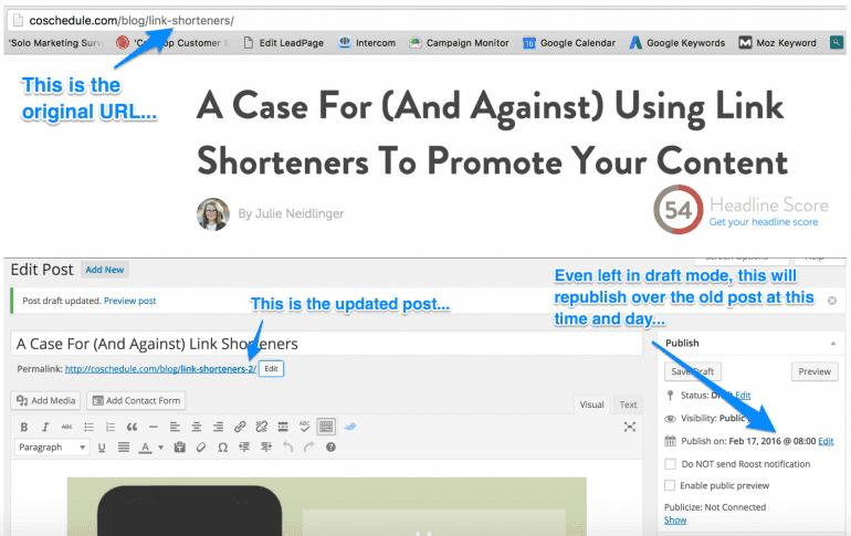 republish a blog post with WordPress