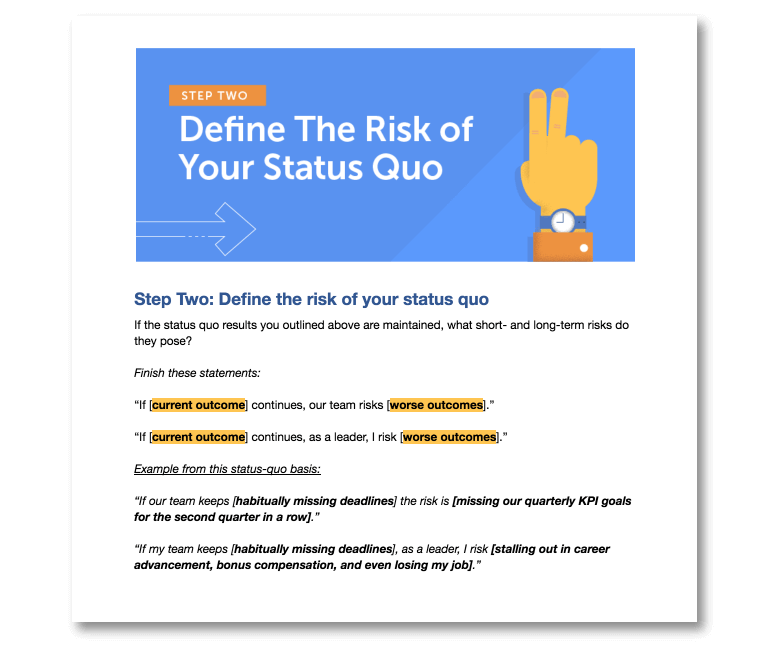 Step Two: Define the Risk of Your Status Quo