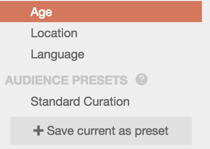 Save targeting presets in CoSchedule