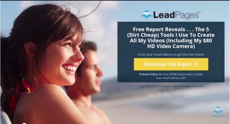 LeadPages Landing Page Example