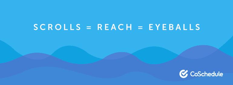 Scrolls = Reach = Eyeballs