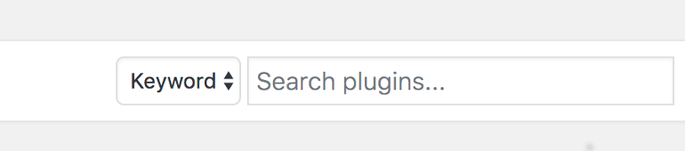 Search for new plugins