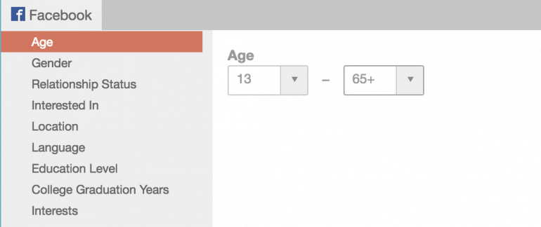 Select an age range