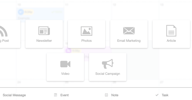 Select a social campaign