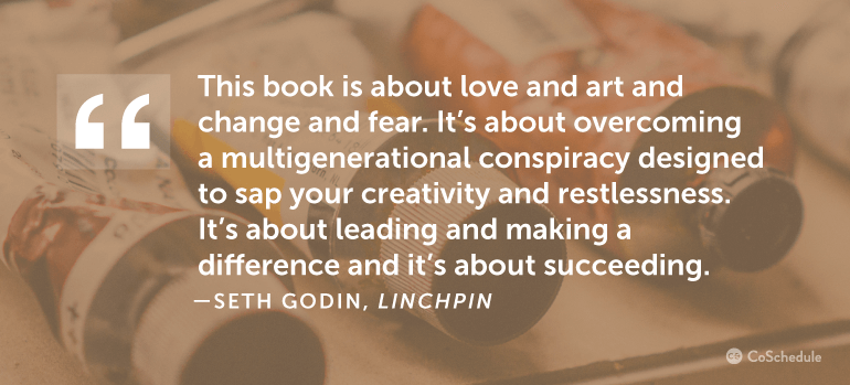 This book is about love and art and change and fear.