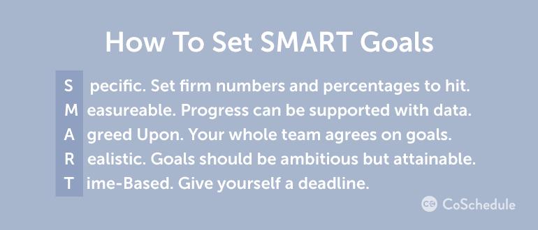Set SMART Goals