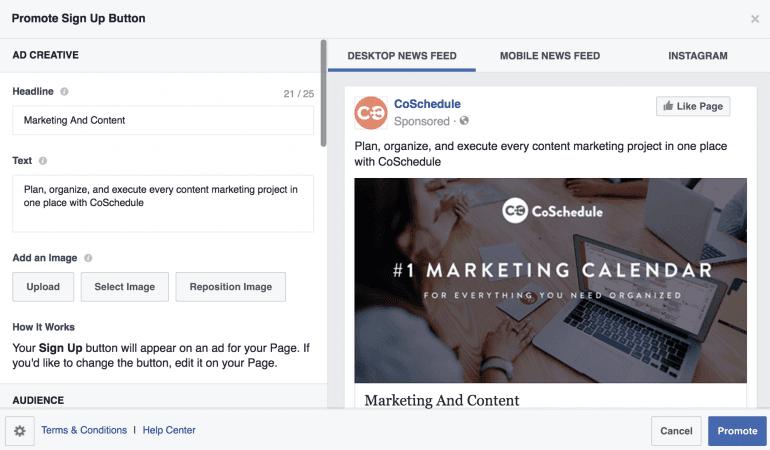 Facebook ads screenshot