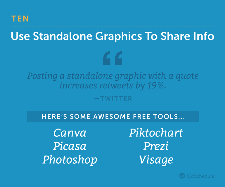 Use Standalone Graphics to Share Info