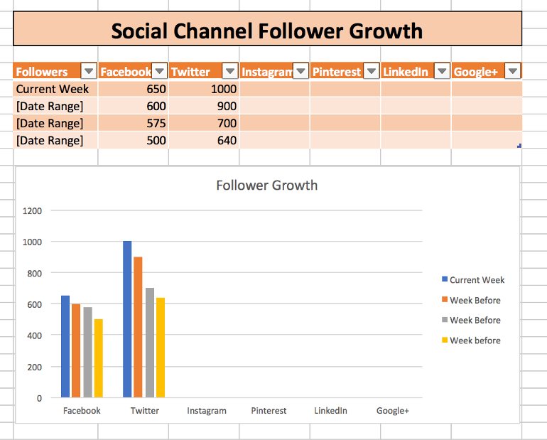 Social Channel Follower Growth