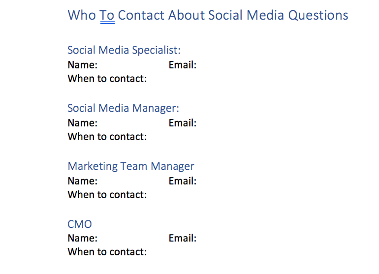 Who to Contact With Questions