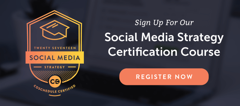 Sign up for the 2017 Social Media Strategy Course