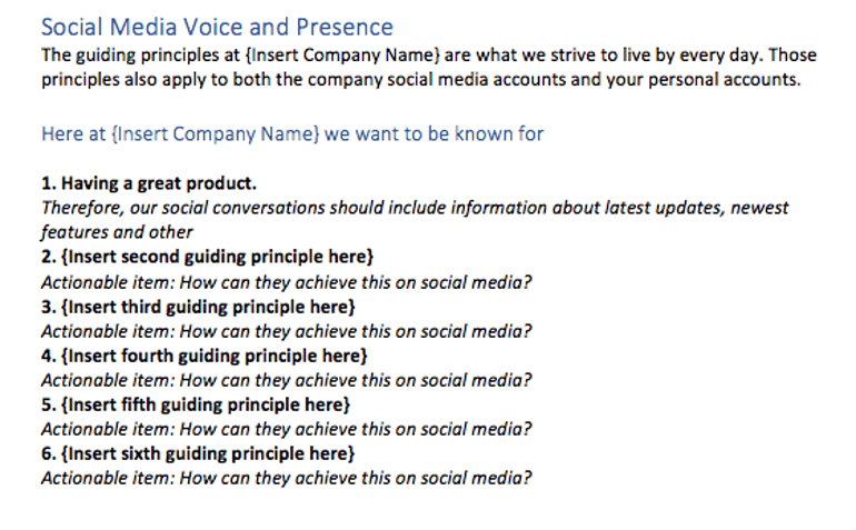 Social Media Voice and Presence