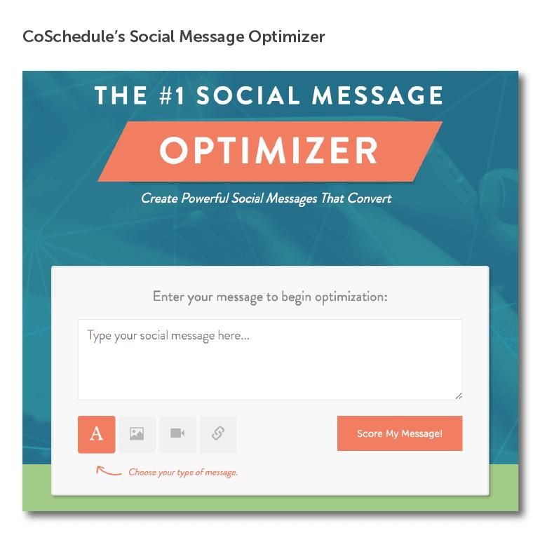 Social Message Optimizer Screenshot