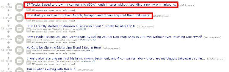 Sort sub-reddit top ideas