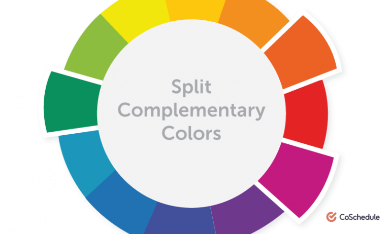 Split Complementary Color Chart