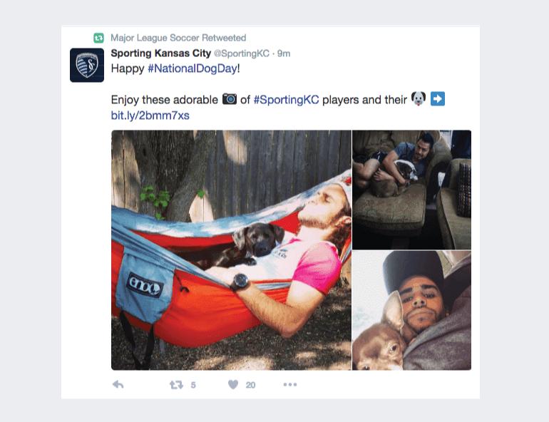 Tweet using an emoji from Sporting Kansas City