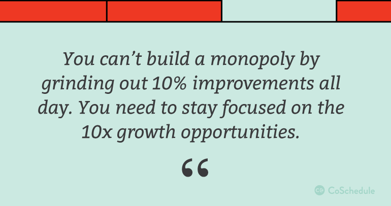 How to stay focused on 10x growth opportunities