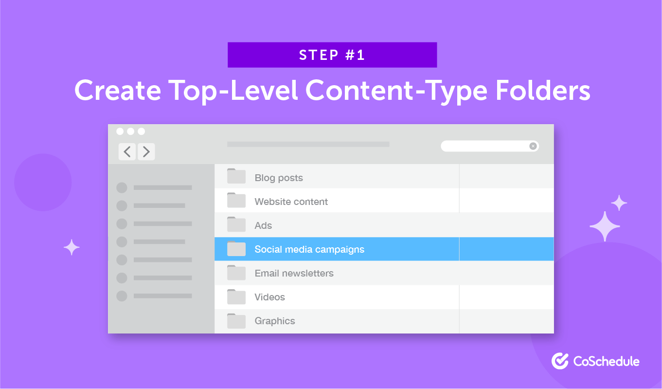Step 1: Create Top-Level Content-Type Folders