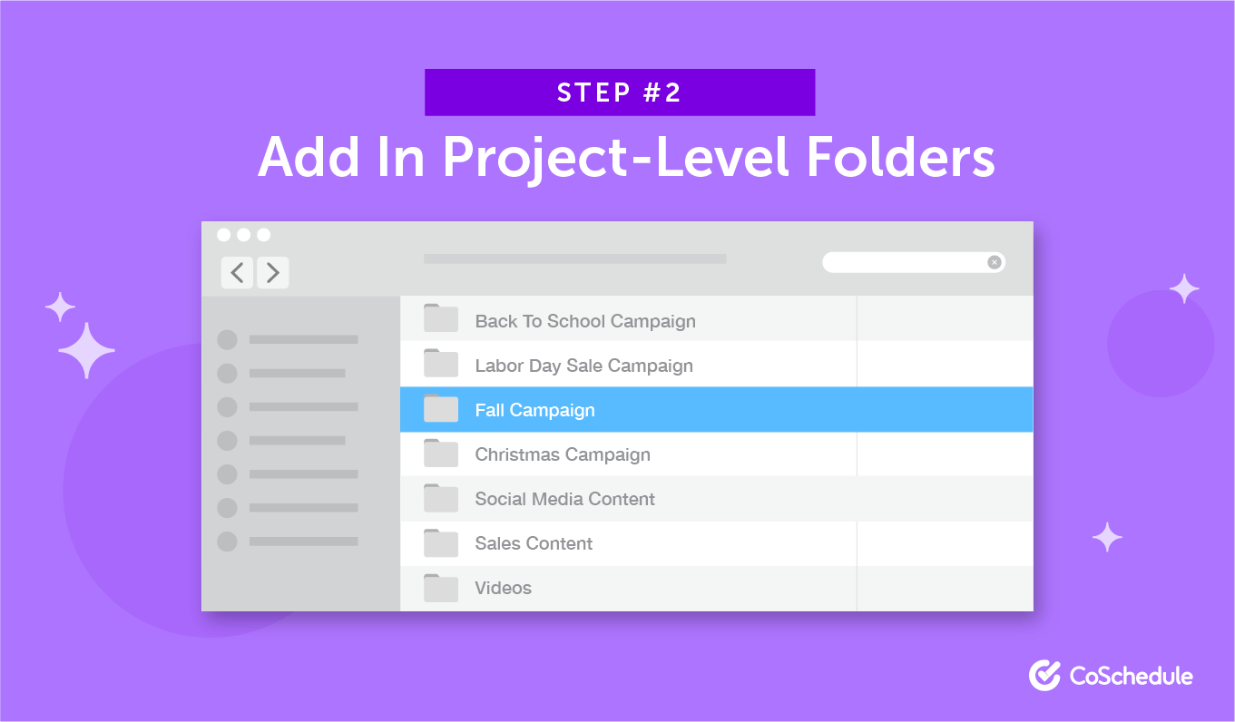 Step 2: Add In Project-Level Folders