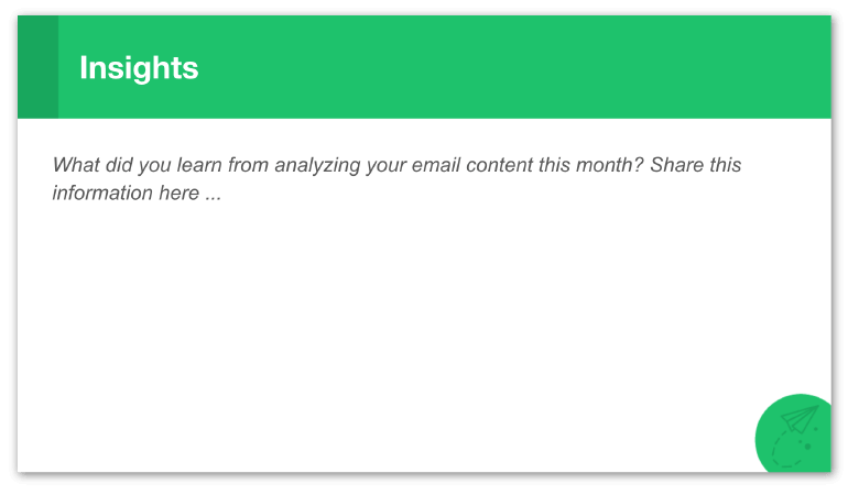Email marketing strategy slide: Insights