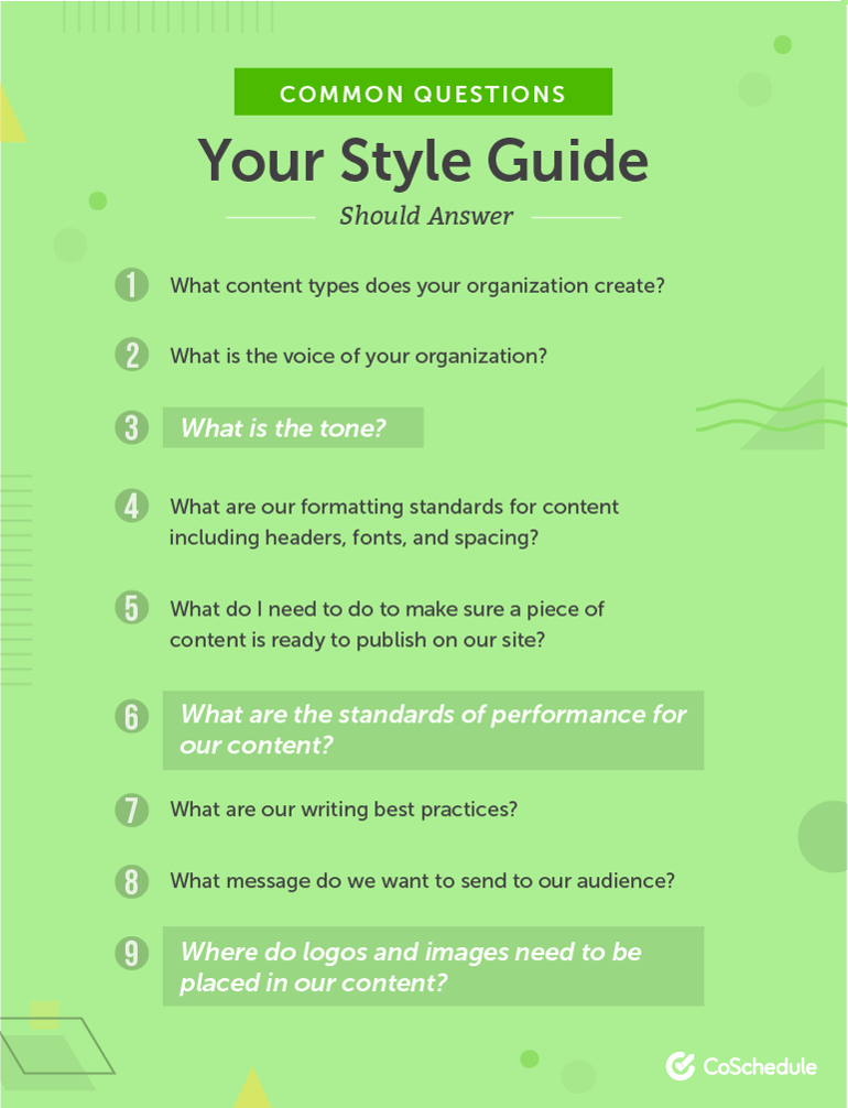 Common Questions Your Style Guide Should Answer