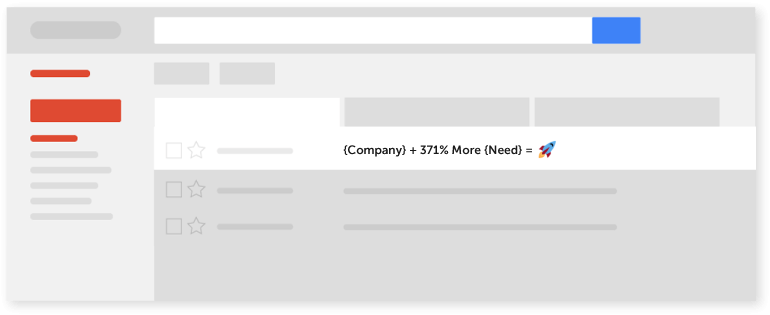 Example of an email subject line in an inbox.