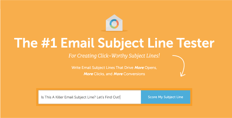 Try the Email Subject Line Tester