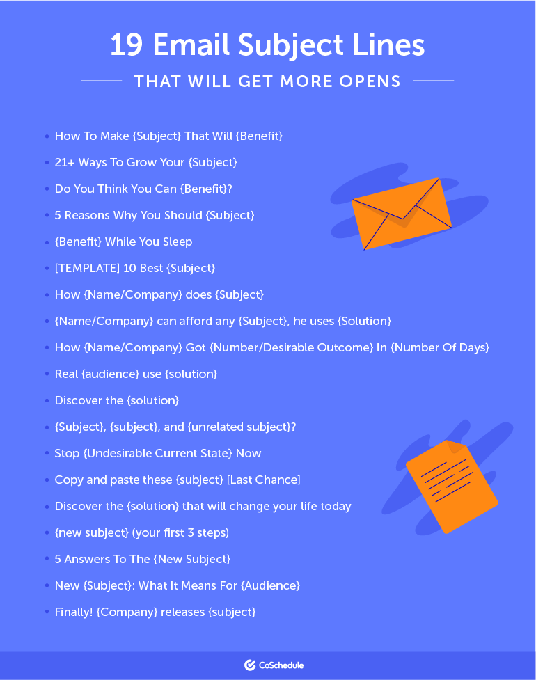 19 Subject Lines to Test