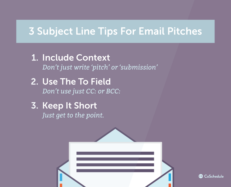 3 Subject Line Tips For Email Pitches