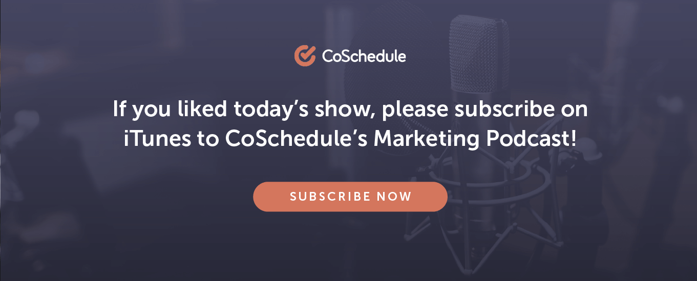 Prompt to subscribe to CoSchedule on iTunes