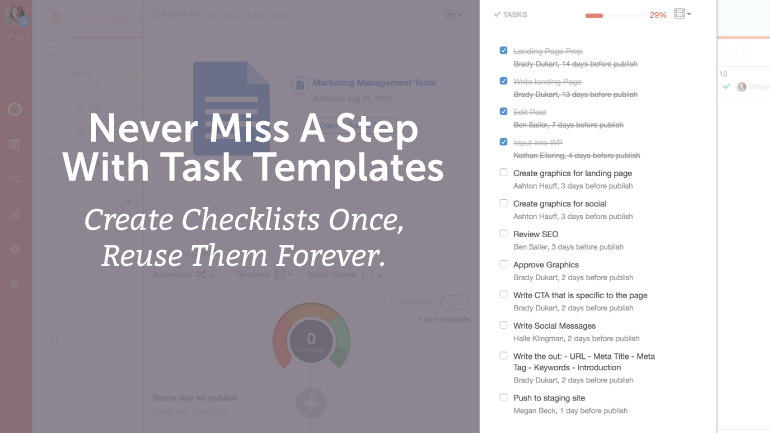 Never Miss A Step With Task Templates