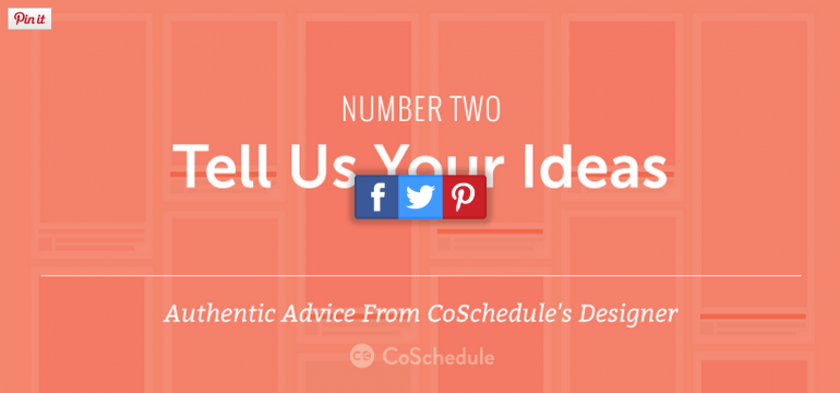Tell us your ideas for Pinterest