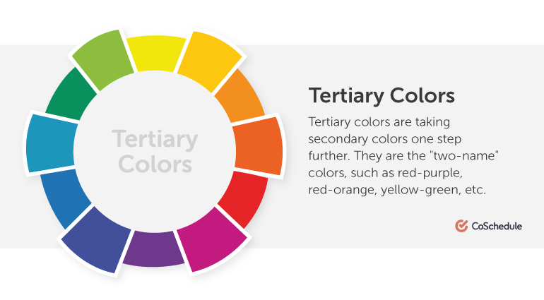 Tertiary colors are taking secondary colors one step further.