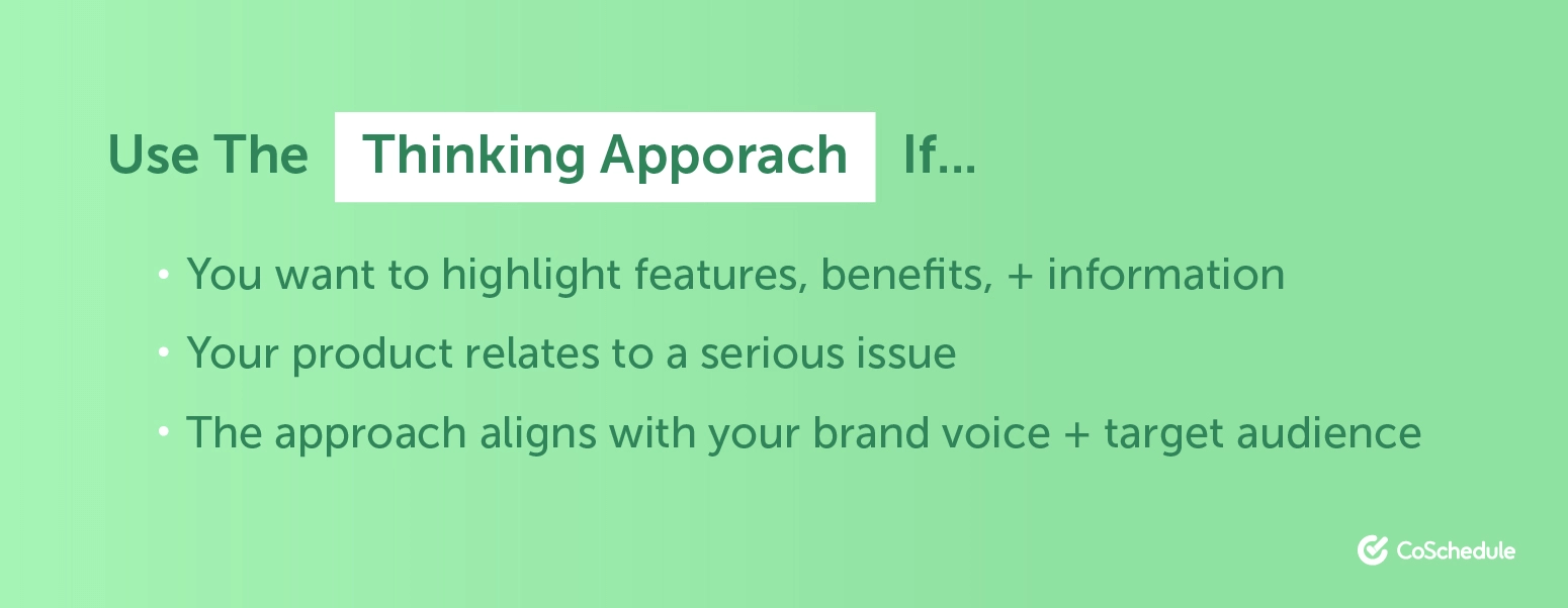When to use the thinking approach in advertising