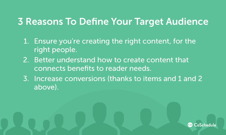 3 Reasons To Define Your Target Audience