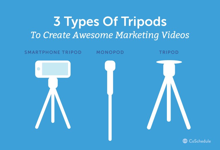 3 Types Of Tripods To Create Awesome Marketing Videos