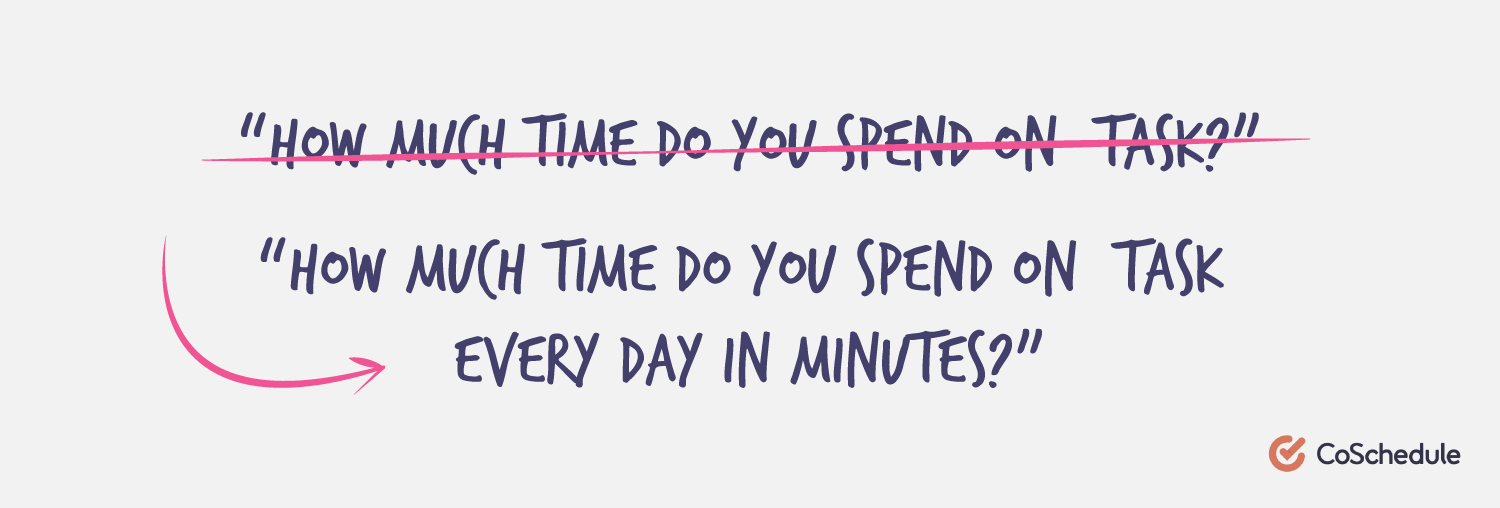 How much time do you spend on task every day in minutes?