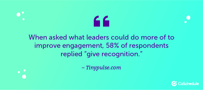 When asked what leaders could do to improve engagement ...