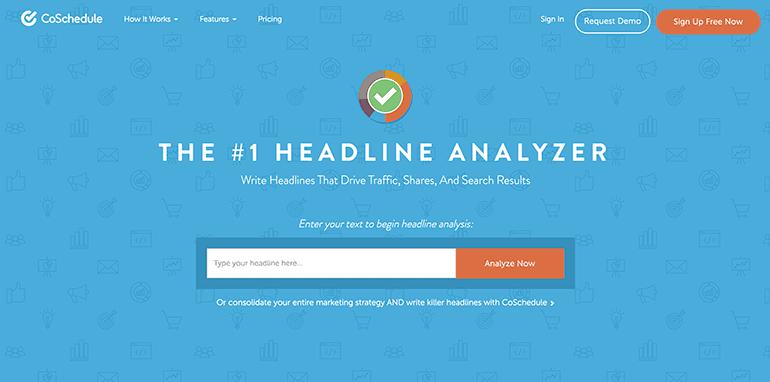 Tool Example via CoSchedule's Headline Analyzer.
