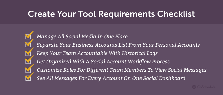 Create Your Tool Requirements Checklist