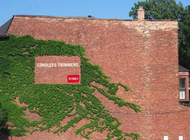 Example of an outdoor ad from Toro