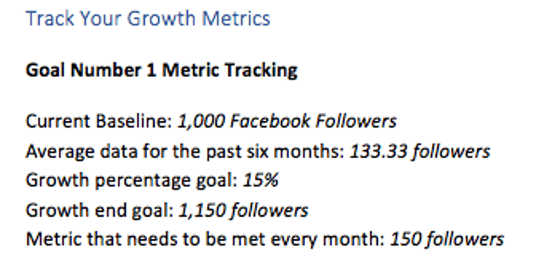 Track social follower growth in your template
