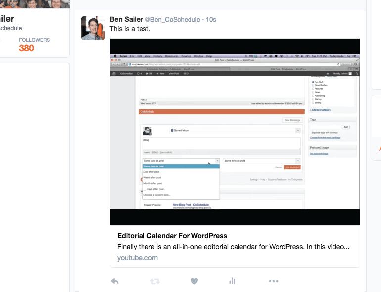 Twitter video window